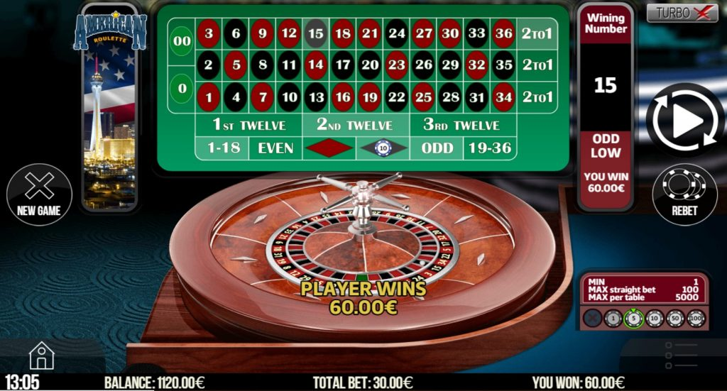 Play roulette at a casino.