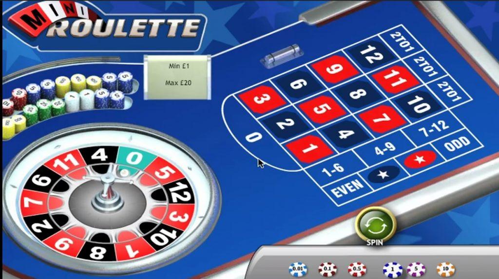 A game of mini roulette in progress