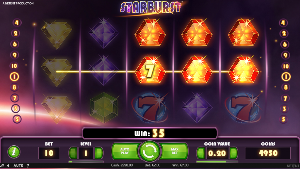 Starburst slot interface.